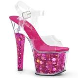 fuchsia 18 cm RADIANT-708BHG hologram platå høye hæler dame