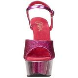 fuchsia glinser 15 cm DELIGHT-609-5G høye hæler damer sko