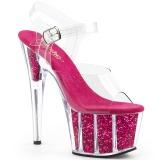 fuchsia glitter 18 cm Pleaser ADORE-708G pole dancing sko