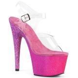 fuchsia glitter 18 cm Pleaser ADORE-708OMBRE pole dancing sko