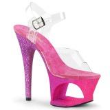 fuchsia glitter 18 cm Pleaser MOON-708OMBRE pole dancing sko