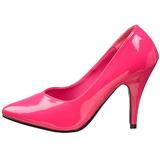 fuchsia lakkert 10 cm DREAM-420 dame pumps sko flate hæl