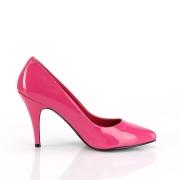 fuchsia lakkert 10 cm VANITY-420 spisse pumps med høye hæler