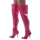 fuchsia lakkert 13 cm SEDUCE-3010 lårhøye støvler til menn