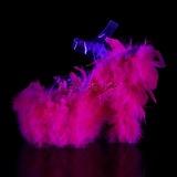 fuchsia marabou fjær 18 cm ADORE-708F pole dancing sko