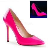 fuchsia neon 13 cm AMUSE-20 dame pumps sko stiletthæl