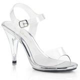 gjennomsiktig 10,5 cm CARESS-408 dame sandaletter lavere hæl