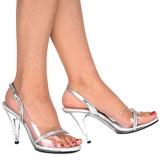 gjennomsiktig 10,5 cm CARESS-456 dame sandaletter lavere hæl