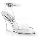 gjennomsiktig 10,5 cm LOVELY-406 wedge sandaler med kilehæl