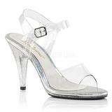 gjennomsiktig 10 cm CARESS-408MG høye fest sandaler med hæl