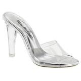 gjennomsiktig 11,5 cm CLEARLY-401 plateau høyhælte slipper sko