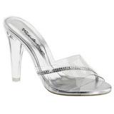 gjennomsiktig 11,5 cm CLEARLY-401R plateau høyhælte slipper sko
