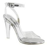 gjennomsiktig 11,5 cm CLEARLY-406 høye fest sandaler med hæl