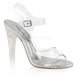 gjennomsiktig 11,5 cm CLEARLY-408MG høye fest sandaler med hæl