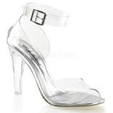 gjennomsiktig 11,5 cm CLEARLY-430 høye fest sandaler med hæl