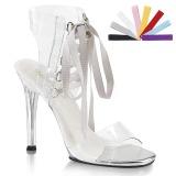 gjennomsiktig 11,5 cm GALA-32 dame sandaler med hæl