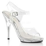 gjennomsiktig 12,5 cm POISE-508 dame sandaler med hæl