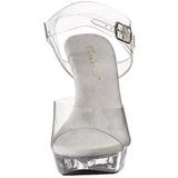 gjennomsiktig 13 cm COCKTAIL-508 platå høyhælte sandaler sko