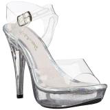 gjennomsiktig 13 cm COCKTAIL-508MG platå høyhælte sandaler sko