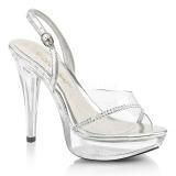 gjennomsiktig 13 cm COCKTAIL-556 platå høyhælte sandaler sko