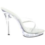 gjennomsiktig 13 cm Fabulicious LIP-101R høyhælte slipper damer sko