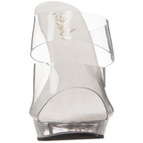 gjennomsiktig 13 cm Fabulicious LIP-102 høyhælte slipper damer sko