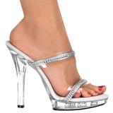 gjennomsiktig 13 cm LIP-102-2 høyhælte damer sko strass stein