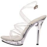 gjennomsiktig 13 cm LIP-106 plateau høy hæl sko