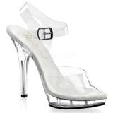 gjennomsiktig 13 cm LIP-108 plattform hæl sko