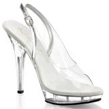 gjennomsiktig 13 cm LIP-150 plattform hæl sko