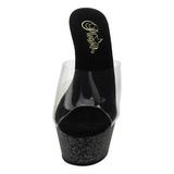 gjennomsiktig 15 cm KISS-201MG glinser platå høye mules sko