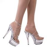 gjennomsiktig 15 cm KISS-206 plateau høy hæl sko