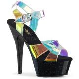 gjennomsiktig 15 cm KISS-220MMR dame sandaler med hæl