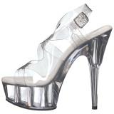 gjennomsiktig 15 cm Pleaser DELIGHT-630 platå høye hæler sko