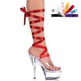 gjennomsiktig 15 cm Pleaser KISS-295 platå høye hæler sko