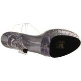gjennomsiktig 15 cm STARDUST-608 høye damesko med hæl