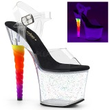 gjennomsiktig 18 cm UNICORN-708MG pole dancing sko