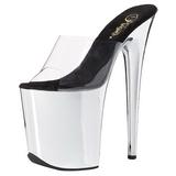 gjennomsiktig 20 cm FLAMINGO-801 krom høyhælte slipper damer sko