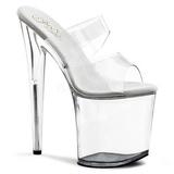gjennomsiktig 20 cm Pleaser FLAMINGO-802 høyhælte slipper damer sko