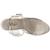 gjennomsiktig 23 cm Pleaser INFINITY-908 platå høye hæler sko