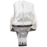 gjennomsiktig 5 cm CRYSTAL-103 høye pumps aftensko med hæl