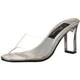 gjennomsiktig 8,5 cm ROMANCE-301 plateau høyhælte slipper sko
