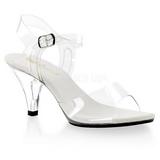 gjennomsiktig 8 cm BELLE-308 high heels sko til menn
