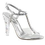 gjennomsiktig krystall 11,5 cm CLEARLY-426 høye fest sandaler med hæl