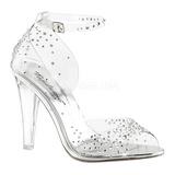 gjennomsiktig krystall 11,5 cm CLEARLY-430RS høye fest sandaler med hæl