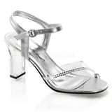 gjennomsiktig krystall 8,5 cm ROMANCE-308R høye fest sandaler med hæl