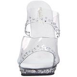 gjennomsiktig krystall platform 13 cm LIP-102RS høyhælte slipper sko