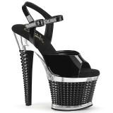 gjennomsiktig platåsandaler 18 cm SPECTATOR-709 høyhælte sandaler