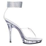 gjennomsiktig strass 13 cm LIP-142 platå høyhælte sandaler sko