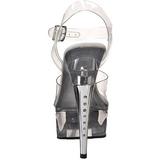 gjennomsiktig strass 15 cm CAPTIVA-608 platå høyhælte sandaler sko